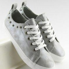 Športové dámske tramky s kamienkami sivej farby2 Designer Shoes, Wedges, Sneakers, Fashion, Tennis, Moda, Slippers, Fashion Styles, Sneaker