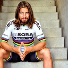 Peter Sagan in his new Borahansgrohe World Champion Kit photo credit veloimages