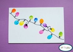 Fingerprint Xmas lights-Christmas card idea for next year?!