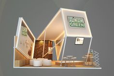 Pacific Green - 2013 on Behance Web Banner Design, Exhibition Stall Design, Exhibition Stands, Exibition Design, Pacific Green, Expo Stand, Kiosk Design, Store Interiors, Education Architecture