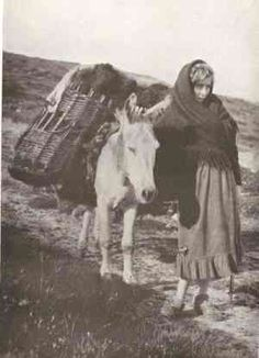 Girl From Kerry Leading a Donkey; Images from Ireland in the 1920s and 1930s; The Spirit of Ireland by Lynn Doyle http://www.irishhistorylinks.net/pages/Old_Photos.html#Westmeath