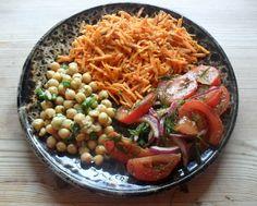 Easy Vegan Raw Moroccan Salad Platter