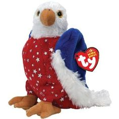 Ty Beanie Babies American Eagle Official product from Ty?s wildly popular Beanie Babies CollectionLook for the familiar heart-shaped tag that means you? Rare Beanie Babies, Beanie Baby Bears, Original Beanie Babies, Ty Beanie Boos, Ty Bears, Ty Babies, Ty Toys, Baby Queen, Plush Animals