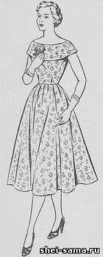 Платье с разными вариантами большого воротника - Сто фасонов женского платья - Всё о шитье - Шей сама