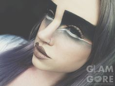 Avant Garde and animalistic high fashion eye makeup look. For more makeup looks and tutorials: www.instagram.com/Mykie_ www.youtube.com/GlamAndGoreMakeup