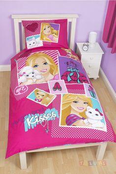 Parure de lit Barbie Kisses http://www.toluki.com/prod.php?id=545 #Toluki #enfant #chambre
