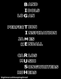 Big Time Rush acronym!