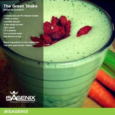 Get an extra boost of nutrients today with this Green Whey Protein Shake recipe from Cortney N.! #isagenix