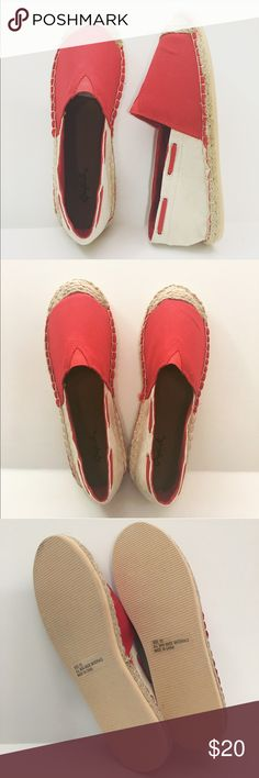 🆕Espadrilles Flats Great Pop Of Color Beautiful flats that will look great with jeans,  shorts or maxi dresses. Get your pair before I sell out. Thank you for visiting my boutique! Qupid Shoes Espadrilles