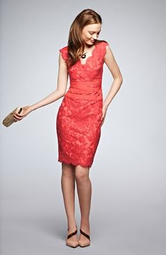 Tadashi Shoji Embroidered Lace Sheath Dress (Regular & Petite)   Nordstrom
