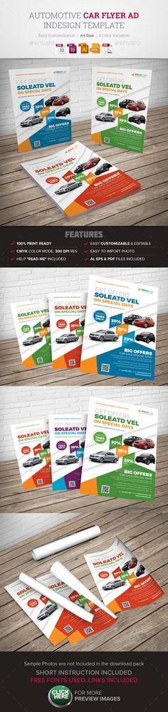 Automotive Car Flyer Ad Indesign Template