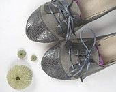 The Sofia Oxfords in Gray - Cute Handmade Leather Oxford Shoes