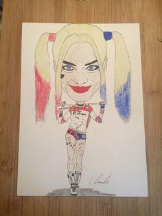 Harley Quinn drawn by Liam Tunnah