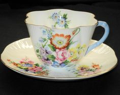 SHELLEY DAINTY SUMMER BOUQUET TEA CUP AND SAUCER