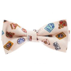 Mens Stamp Pattern Printed Pre-Tied Bow Tie (YB009) #BLACKFRIDAY