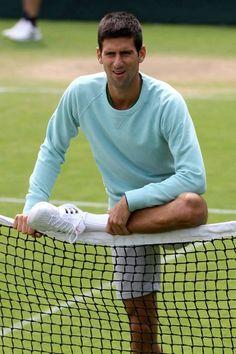Never underestimate #stretching #Djokovic #training #fitness
