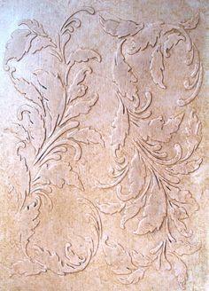 Raised Plaster Stencil De Femme Wallpaper Stencil Painting Stencil