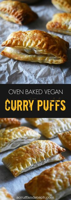Oven Baked Vegan Curry Puffs Scruff Steph - My Second Challenge Is This Vegan Version Of My Oven Baked Curry Puffs Recipe I Have Substituted The Mince With Chickpeas Green Peas And Upped The Quantities Of The Vegetable Ingredients To Give It Vegan Curry, Vegan Vegetarian, Vegetarian Recipes, Cooking Recipes, Vegetarian Finger Food, Vegan Finger Foods, Vegan Baking Recipes, Best Vegan Recipes, Indian Food Recipes