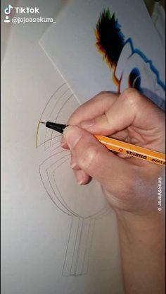 Naruto Drawings, Art Drawings Sketches Simple, Naruto Art, Pencil Art Drawings, Anime Crafts, Anime Diys, Viral Trend, Glitch Art, Art Tutorials