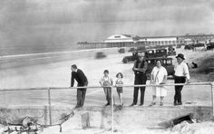 Cars driving on the beach in Jacksonville (1929). | Florida Memory