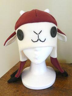 Maroon Fleece Goat Hat. $38.00, via Etsy.