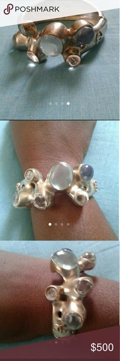Final Price: Chanel Gripoix Bracelet A very nice piece. One of the gripoix are cracked but not very noticable. CHANEL Jewelry Bracelets
