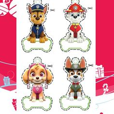 PAW Patrol PAW Patrol - Party Hats - Paint, draw, create and learn, print out preschool activities