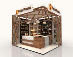 Nescafe Coffee Booth on Behance Coffee Bar Design, Coffee Shop Interior Design, Office Interior Design, Kiosk Design, Booth Design, Cake Shop Design, Restaurant Exterior Design, Loft Cafe, Cofee Shop