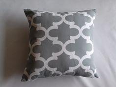 Pillow Cover, Cool Grey/White Geometric Pillow Cover, Premier Prints Fynn Pillow Cover, Decorative Pillow Cover