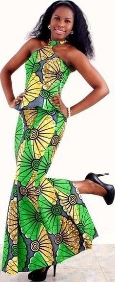 Classy ankara dress $150.00