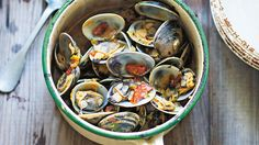 Braised clams with beer and chorizo