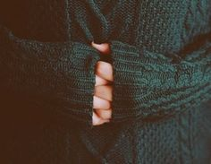 emerald knit sweater