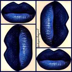 """#ShareIG Ardency Inn """"Black Is Blue"""" Lipstick with MAC """"Naval Blue"""" Pigment on top. MAC Black Grease Paint Stick as a base with NYX Black Gel Liner to line my lips."""
