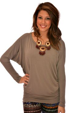 LUXURIOUS LONG SLEEVE COMFY FIT IN GRANITE