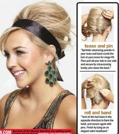 how to do this volumizing updo...