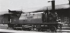 Tender-Locomotive B2 Nr. 254 Romont der Jura-Simplon-Bahn mit ſattelförmig über den Dampfkeſſel glegtem Waſſerbehälter, gebaut 1862 inn Emil Keſslers Machines-Fabrique zů Eſslingen (Fabr-Nr. 578) für die Lauſanne—Freiburg—Bern-Bahn (Betribsnr. 4), 1865 von den Chemins de fer de la Suisſe Occidentale übernommen (ab 1871 Betribsnr. 54), 1881 an die Suisſe-Occidentale-Simplon, 1890 von der Jura—Simplon-Bahn übernommen, 1903 als Ec 2/4 Nr. 6399 von den Schweizeriſchen Bundesbahnen