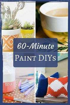 Some of the fastest and easiest DIY projects involve paint. Here are some great ideas that would be fun to try at home.