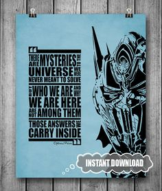 Optimus Prime Quote  Transformers Movie  INSTANT by inkofme, $5.00