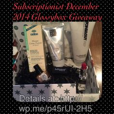 Subscriptionist December 2014 Glossybox #Giveaway  check out the details now by going to http://wp.me/p45rUI-2H5 or enter through Facebook https://www.facebook.com/Subscriptionist under the Giveaway tab! Giveaway ends 1/27/15 midnight. Good Luck!
