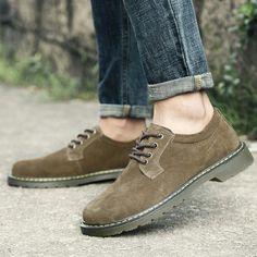 b79243d80b3348 26.08 49% de réduction|Aliexpress.com: Acheter Prelesty Hiver Chaud Hommes  Chaussures En Daim En Cuir Casual Chaussures Plates Appartements de  Dentelle up ...