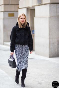 New York Fashion Week FW 2015 Street Style: Pernille Teisbaek - STYLE DU MONDE | Street Style Street Fashion Photos