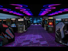 80's Arcades at the mall or movie theaters