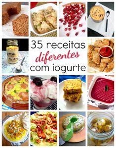35 receitas diferentes que usam iogurte