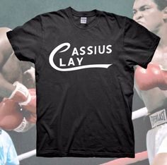 29c1077f8 MUHAMMAD ALI T-Shirt Cassius Clay Logo The Greatest Boxing Vintage Retro  RIP New