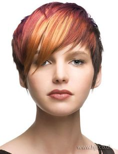 Just goes to show that hair does not have to be long to achieve a flame effect!