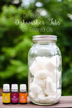 "I have been going back and forth trying different recipes for dishwasher detergent over the last few months. I made some of my own ""liquid"" dishwasher detergent, but it was SO SO SO SO SOOOO THICK and it was nearly impossible to pour every time we went to start a load of dishes. It was …"