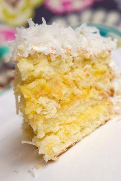 Lemon-Coconut Cake...Oh, Baby!...From Sugar & Spice by Celeste