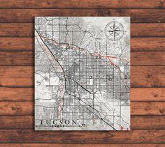 tucson arizona vintage map tucson city arizona vintage map wall art print tucson arizona black white