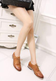 Sapatas das mulheres Genuíno couro de boi mulheres Brogues Lazer mulheres apartamentos sapatos para senhora sapatos Oxford mulheres sapatos lace up A068 1 em Oxfords - Masculino de Calçados no AliExpress.com   Alibaba Group