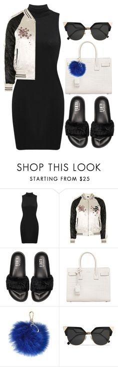 """Riri"" by dontneedfashion ❤ liked on Polyvore featuring Topshop, Puma, Yves Saint Laurent, Furla, Fendi, set, sets, DnF and DNFfash"